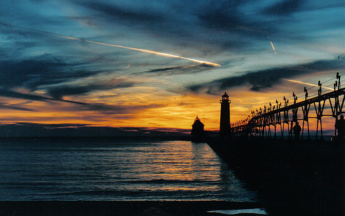 Grand Haven at Sunset